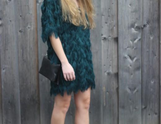 Dress in smaragd