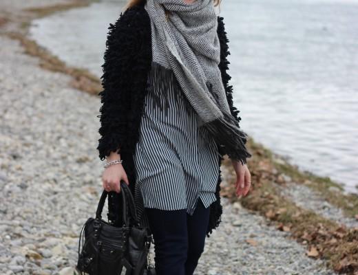Fluffy jacket: als ich diese Jacke gesehen habe, musste ich sie unbedingt haben! Eigentlich habe ich schon genug schwarze Jacken (wobei kann man davon überhaupt genug haben?!)