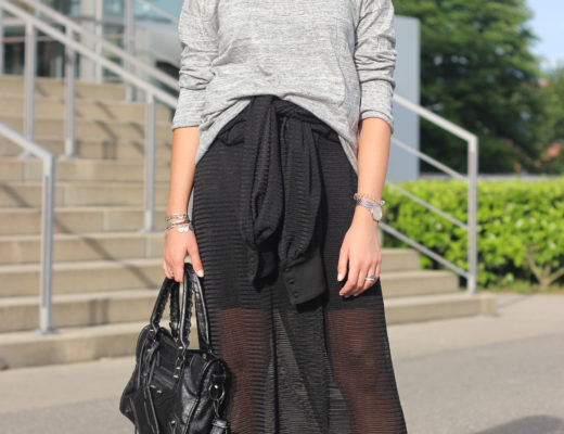 How to style a dress as a skirt: Far to rarely I wore this dress, because it is very chic and therefore, I think that the idea to wear it as a skirt is good alternative to wear my dress more often. @wmbg