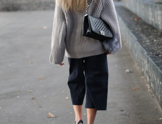 Turtle neck sweater and culottes: theres nothing better than wearing a cosy sweater at these cold temperatures and this lovely turtle neck sweater just...@wmbg