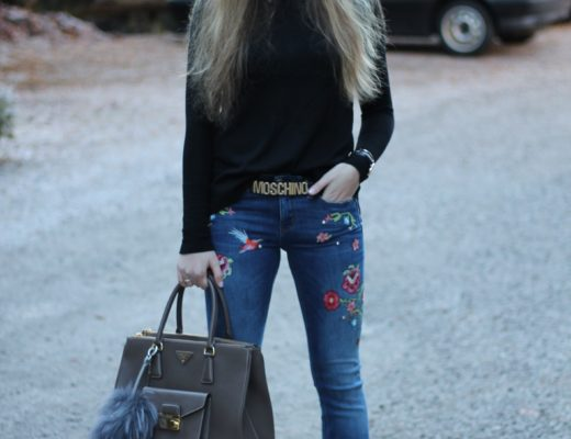 "Embroidered jeans - now I am also infected with the ""patches fever"" and the little colorful pieces just add that certain something to every outfit...@wiebkembg"