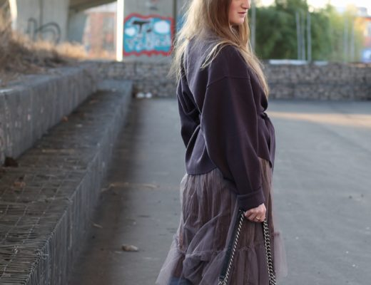 Skirt over jeans - I don't have to tell you that I love dresses or skirts over jeans and especially during the cold season I really like wearing this style..@wiebkembg