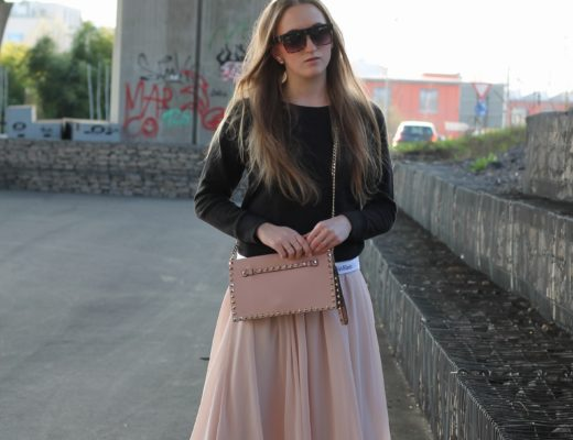 Midi skirt and calvin klein sweater - I showed you already some outfits with my midi skirt in different styles, this time I combined my new Calvin Klein...@wiebkembg