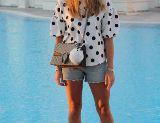 Polka dots and Dionysus bag - Its time for another vacation look! Admittedly I am not a big fan of polka dots, but as I saw this cute shirt I had to buy it...@wiebkembg